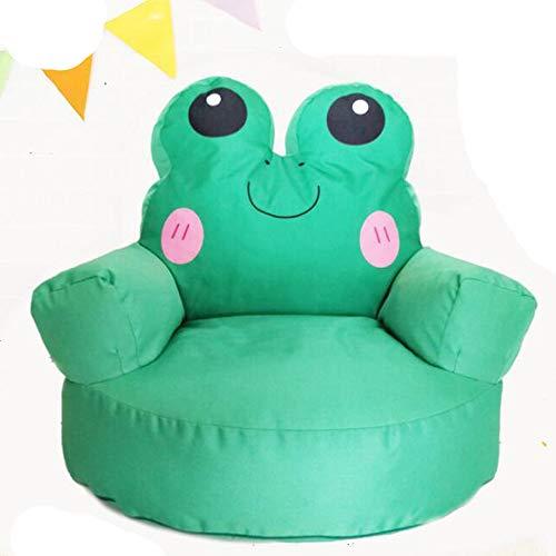 TKFY Grenouille Forme Design Bean Bag Haut Dos de Sac de Haricots Chaise intérieur et extérieur Sofa Jardin Balcon Bazaar Fauteuil pour Les Enfants 68CM * 70CM * 72CM Vert