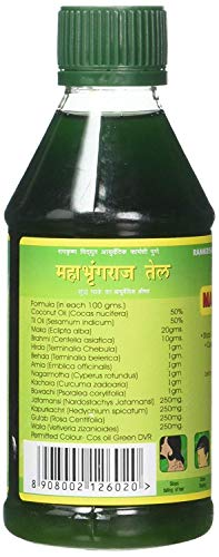 RVAP Mahabhringraj Oil 500ml | Pure indian MaKa's Ayurvedic Oil for Hair care | Enriched with various Indian herbs and ingredients (17 fl oz)