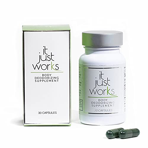 It Just Works All Natural Full Body Deodorizing Supplement for Underarms and Private Parts | Vegan & Organic Deodorant that Works from the Inside Out | 30 Capsules
