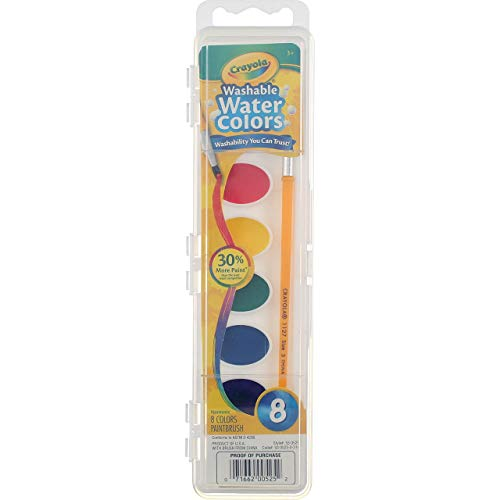 Crayola Washable Watercolor Paints, 8 Primary Colors (Pack of 4)
