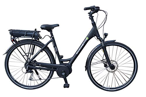 SAXONETTE Urbano E-Bike Pedelec Elektrofahrrad m. Bosch Active Line, Shimano 9G, hydraulische Scheibenbremsen (Rahmenhöhe 45cm)
