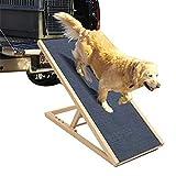 Hunde Treppen Stufen Falten Groß Hunderampe - Tragbares Leichtgewicht Rutschfest Sicherheitshund und Katzenrampe für Auto, Couch, Reise - Dauerhaftes Holz Höhenverstellbares Design