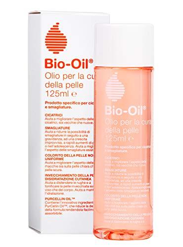 Bio-Oil Olio per Cicatrici e Smagliature, Trattamento per la Pelle con Azione Idratante, Cicatrizzante e Anti Smagliature, Indicata per Pelli Sensibili, 125 ml