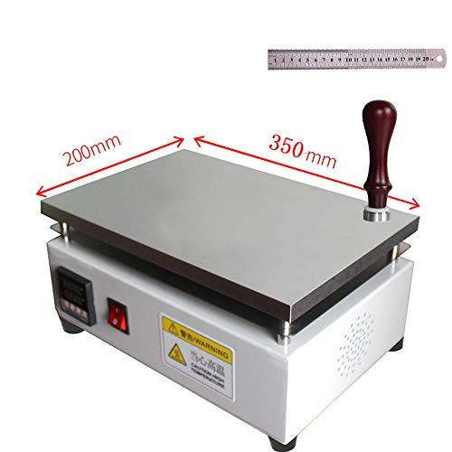 Hanchen kommerzielle BOPP Folien-Verpackungsmaschine Elektrische Cellophan Schrumpffolie mit konstanter Temperatur Heizplatte, 200 x 350 mm.