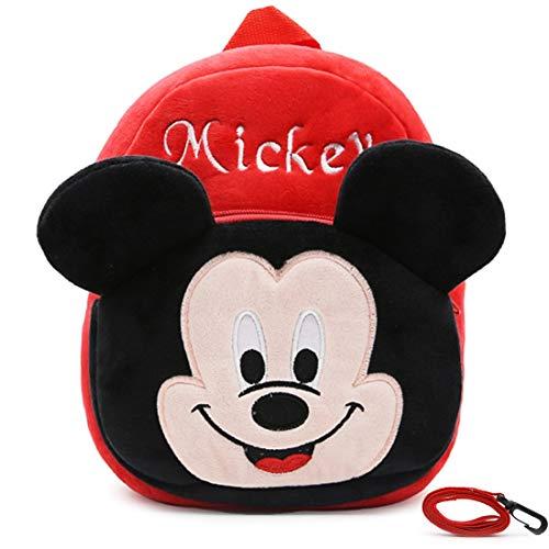 Mochilas Escolares - WENTS Material Escolar para Niñas Mochila Infantil con Mickey Mouse en Diseño 3D Mochila Rojo de Gran Capacidad Regalos Originales para Niñas