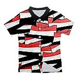 Camisa de Playa sobresaliente de Verano para Hombre de Verano Unisex 3D Bandera Impresa Hombre botón de Hombre Flag L
