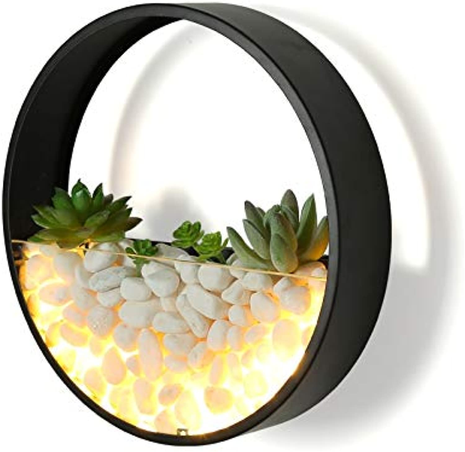 Iron Wall Lamp Round Led Bedside Living Room Bedroom Creative Stone Lamp Wall Light schwarz Decorative Lamp