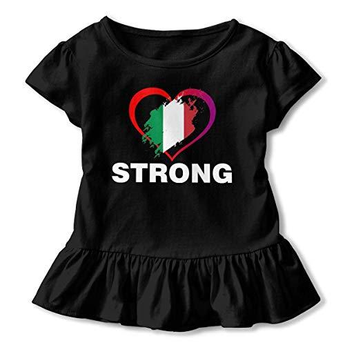 Strong Mexican Pride Flag T Girl'S Short Sleeve Ruffles Shirt tee