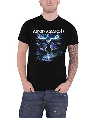 Amon Amarth T Shirt Ravens Flight Band Logo Nue offiziell Herren