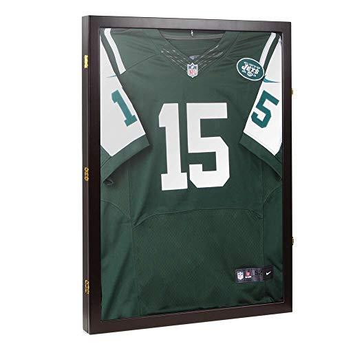 N/W Jersey Display Case Shadow Box Wall Frame Cabinet Football Baseball Basketball