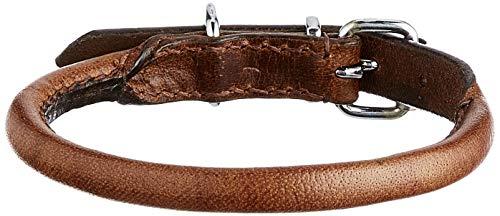 Heritage Leather redondo cosido cuello, 35 - 43 cm (Talla 4)