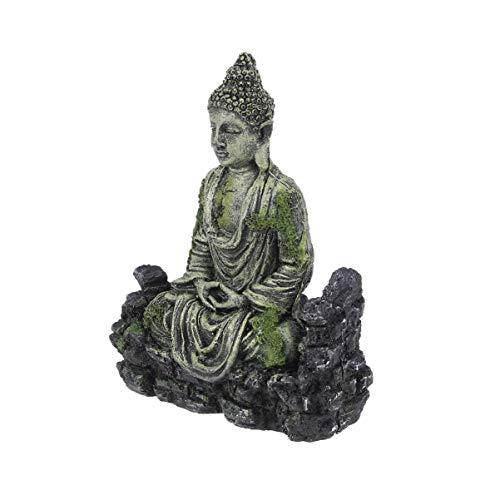 Scicalife Decoración de Buddah para Pecera- Acuario Decoración Resina Estatua de Buda Sentado- 13X5x18cm Decoración de Acuario