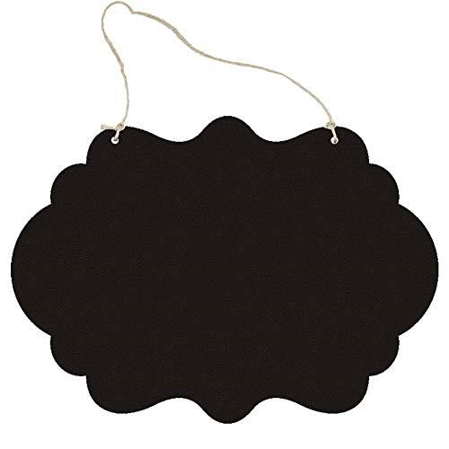 Pizarras de Tiza Las Dos Caras DIY Decoración Negro de la artesanía de Madera Mini Pizarra Listado niños para la Tienda Cocina Casa (Color : B, Size : 35x25x0.5cm)