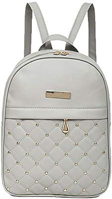 Women Leather Backpack Teenage Backpacks for Girls Vintage Feminine sac a dos Femme Laptop 1012#