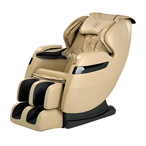 New FOREVER REST FR-5Ks Premier Back Saver, SHIATSU, Zero Gravity Massage Chair with Foot Rolling and Built in Heat, Stretch Mode (Beige)