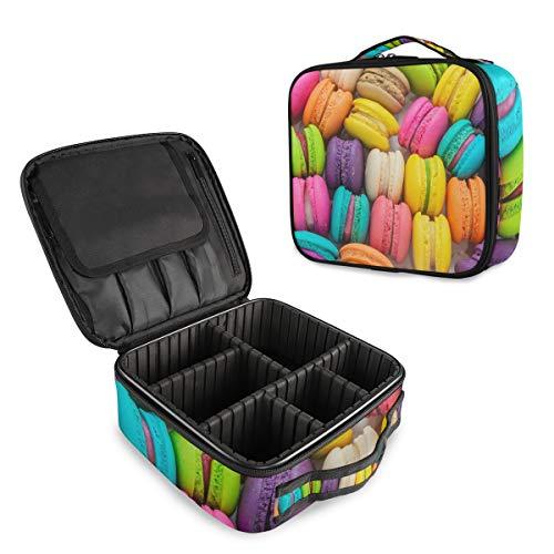 Colorido Macaron - Bolsa de maquillaje profesional de viaje, organizador portátil de maquillaje, bolsa de viaje para mujer