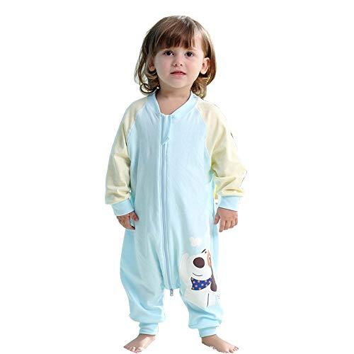 Saco de Dormir para bebé Pata Dividida de Dibujos Animados Ropa de Perro Manta 100% algodón Saco de Dormir de Verano, Saco de Dormir (Blue, 80cm / 31.5in)