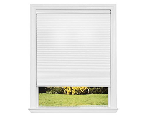 Redi Shade Artisan Select No Tools Custom Cordless Cellular Light Filtering Shades, Snow, 22 in x 72 in