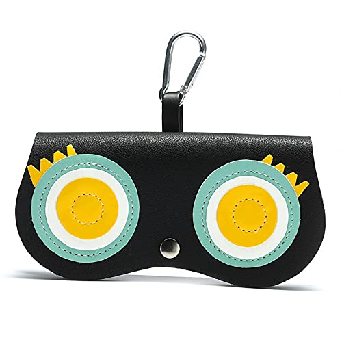 WLWWCX Elegante soporte para gafas, linda bolsa de gafas de dibujos animados, para viajar, ir de compras, playa (B)