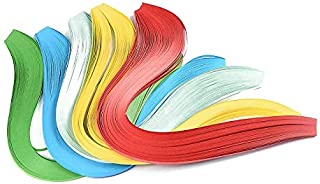 Elecrelive 10Bags 3mm 1/8INCH Strips Quilling Paper Mixed Color 39cm Long Card Design Making Paper Flower Embellishment DIY Party Decoration (B)
