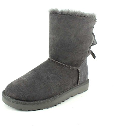 UGG Female Bailey Bow II Classic Boot, Grey, 3 (UK)