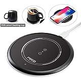 FEIGO Tassenwärmer 2 IN 1 Wireless Charger USB Kaffeewärmer Automatischer Schwerkraftschalter...