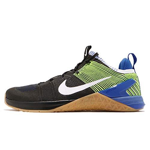 Nike Metcon DSX Flyknit 2 Schwarz/Weiß / Blau Racer/Volt Knit-Kreuz-Trainer-Schuhe 12 D (M) US 11 UK Schwarz/Weiß / Blau Racer/Volt