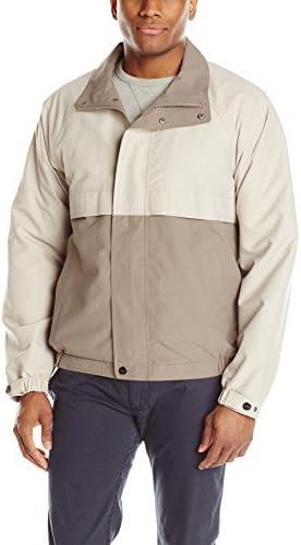 Perry Ellis Men's Microfiber Color Block Lightweight Jacket