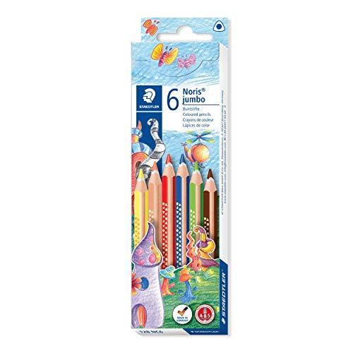 STAEDTLER 128 NC6 Farbstift Noris Club jumbo dreikant, 4 mm, Kartonetui mit 6 Farben