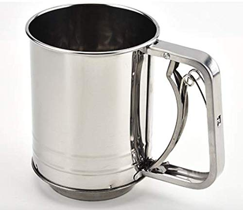 Goldenvalueable Flour Sifter Sieve Stainless Steel Two Layers for Baking Small (2-Cup)