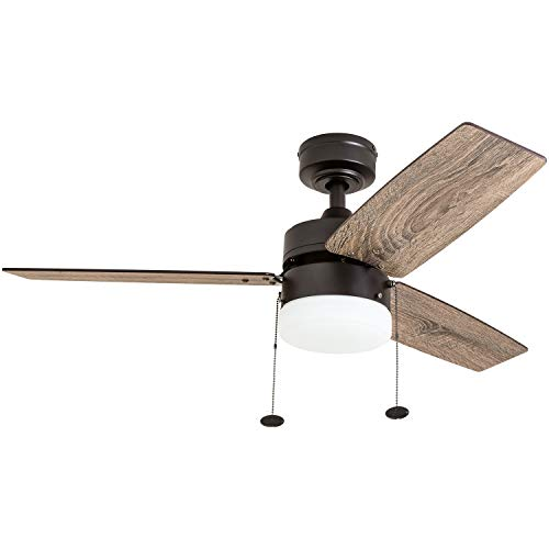 "Prominence Home 51015 Reston Farmhouse Ceiling Fan, 42"", Bronze"