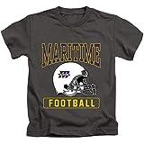 Massachusetts Maritime Academy Official Football Helmet Unisex Youth Juvenile T-Shirt, Charcoal, Small (4)
