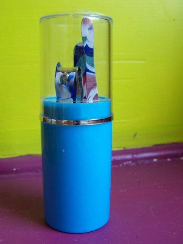 Set de manucure de poche bleu