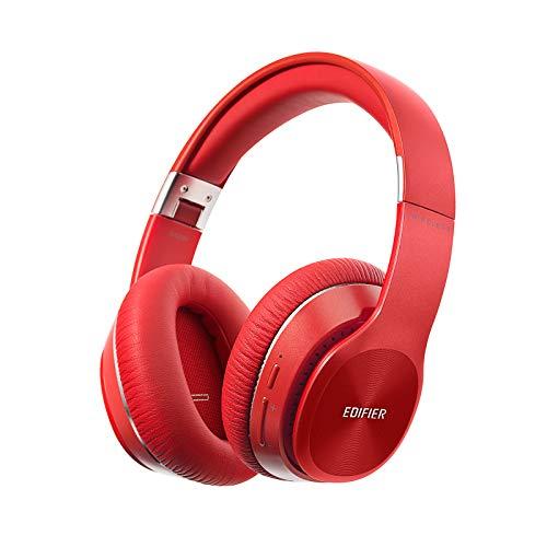 Edifier W820BT Auriculares Bluetooth - Auricular Inalámbrico Plegable con Batería de 80 Horas de duración - Rojo