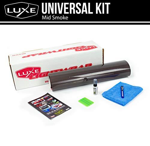 """Luxe LightWrap Mid Smoke Universal Headlight Tail Light Tint Kit (20"""" x 1 Yard)"""