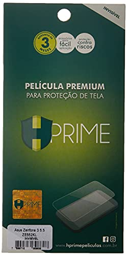 """Pelicula Hprime invisivel para Asus ZenFone 3 5.5"""" ZE552KL, Hprime, Película Protetora de Tela para Celular, Transparente"""