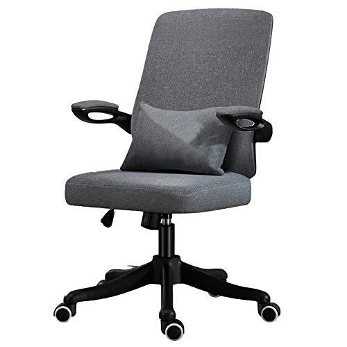 Bürostuhl Schreibtischstuhl Ergonomischer Mit 45 ° Neigungsfunktion,Drehstuhl Chefsessel Stuhl Mit Klappbaren Armlehnen,Grau
