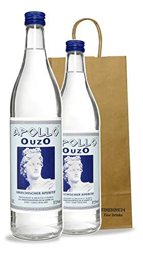 Premium OUZO Apollo aus Griechenland | milder Anis likör 2x 700ml (2x Ouzo 700ml)
