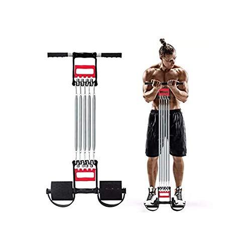 SHIJIAN Banda de resistencia de pedal, con pedal para ejercicios de fitness, extractor de tensión Fitness Músculos de acero inoxidable Equipo de ejercicio Equipo de entrenamiento profesional Actualiza