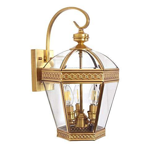 Porche Pasillo Pasillo Oro Soldadura Estaño Cobre Lámpara de Pared Cristal Mesita Escaleras Balcón Al Aire Libre Delicado Interior Lámpara Decorativa HUERDAIIT