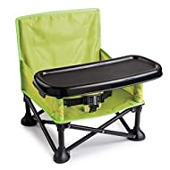 Summer Pop 'n Sit Booster Seat, Green – Booster Chair for Indoor/Outdoor Use – Fast, Easy and Compact Fold , Can be Used as a Portable Highchair – For 6 months to 4 years (up to 37 pounds)