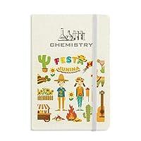笑顔の火のサボテンのギター・フェスティバルのイラスト 化学手帳クラシックジャーナル日記A 5