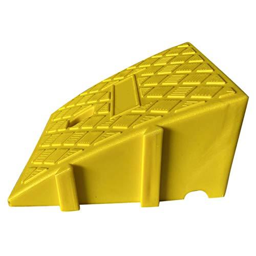 MMUK Rampas de acera Ligeras portátiles: Kit de rampa Reflectante de umbral de plástico de Alta Resistencia para Entrada de Auto, Muelle de Carga, acera, automóvil, Scooter, Bicicleta, Motocicleta