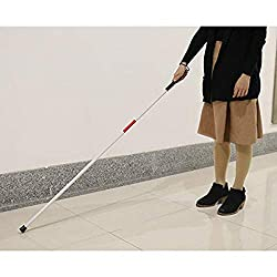 ️ Yu2d ❤️❤️ ️Visually Impaired Blind Walking Stick 4 Section Folding Aluminum Cane 124CM Long