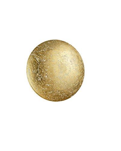 Trio Leuchten Wandleuchte, Metall, Integriert, 8 W, goldfarbig, 22 x 22 x 6,5 cm