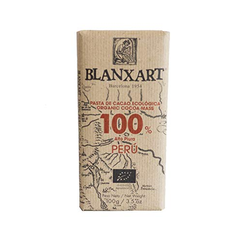 Blanxart Tableta de Chocolate Ecológico - Perú 100% Cacao 1 Unidad 100 g