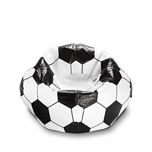 Soccer Ball Ace Bayou 96-inch Vinyl Sports Bean Bag Chair 28 Inches High x 28 Inches Wide x 28 Inches Deep Spot Clean With E-book Gift