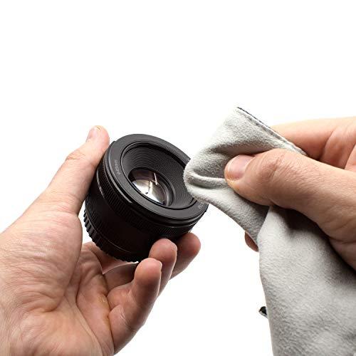 Amolith™ Einschlagtuch für Kamera als Schutzhülle für Fotoausrüstung im Rucksack, Tasche, Beutel etc.   Geeignet für kleine DSLM/DSLR (Body) Kompaktkamera, Objektiv etc.   S (30 x 30 cm)   AML-8773