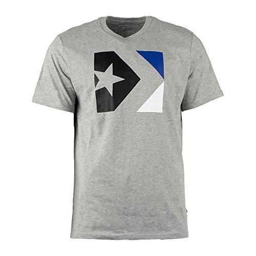 Converse Star Chevron Box tee Camiseta, Gris (Vintage Grey Heather 035), X-Large para Hombre