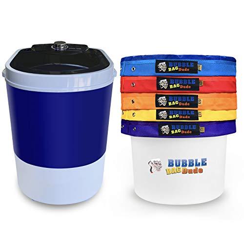 BUBBLEBAGDUDE Bubble Bags Machine 5 Gallon 5 Bag Set - 5 Gallon 110 Volts Mini Washer Herbal...